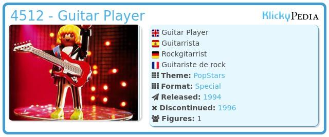 Playmobil 4512 - Guitar Player