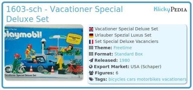 Playmobil 1603-sch - Vacationer Special Deluxe Set