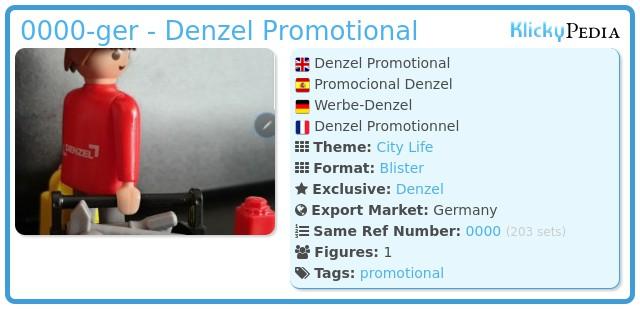 Playmobil 0000-ger - Denzel Promotional
