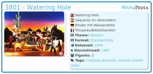 Playmobil 3801 - Watering Hole
