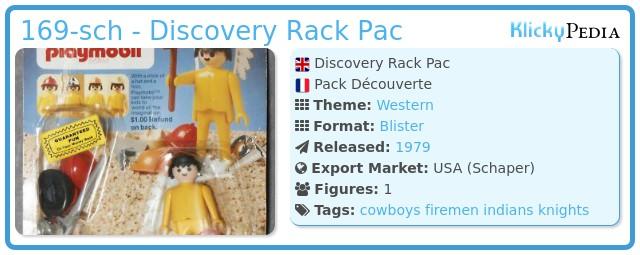 Playmobil 169-sch - Discovery Rack Pac