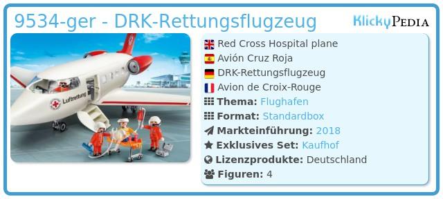 Playmobil 9534-ger - DRK-Rettungsflugzeug