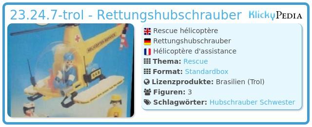Playmobil 23.24.7-trol - Rettungshubschrauber