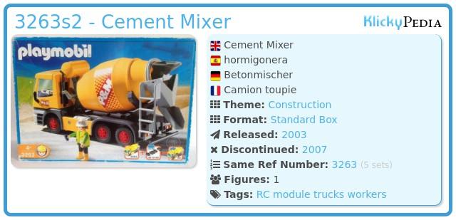 Playmobil 3263s2 - Cement Mixer
