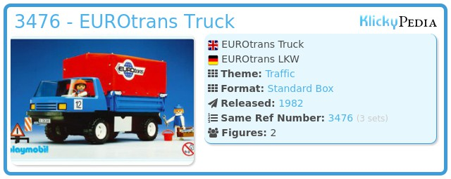 Playmobil 3476 - EUROtrans Truck