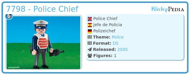 Playmobil 7798 - Police Chief