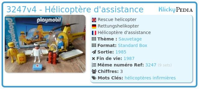 Playmobil 3247v4 - Hélicoptère d'assistance
