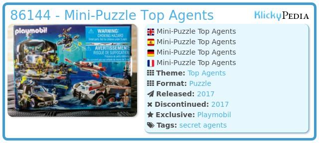 Playmobil 86144 - Mini-Puzzle Top Agents