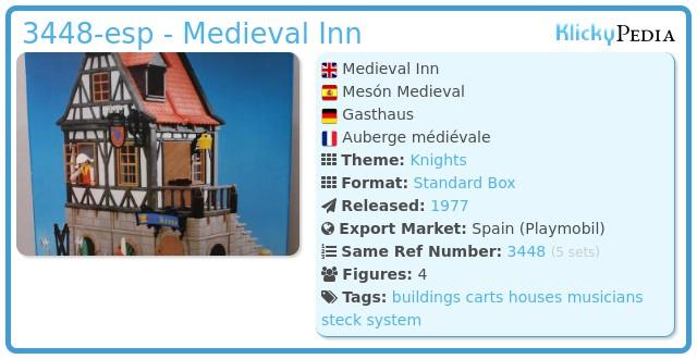 Playmobil 3448-esp - Medieval Inn
