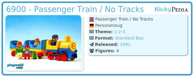 Playmobil 6900 - Passenger Train / No Tracks
