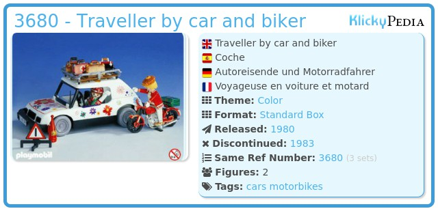 Playmobil 3680 - Traveller by car and biker