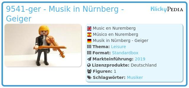 Playmobil 9541 - Music en Nuremberg