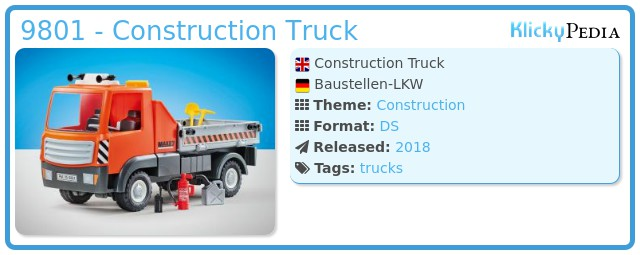 Playmobil 9801 - Construction Truck