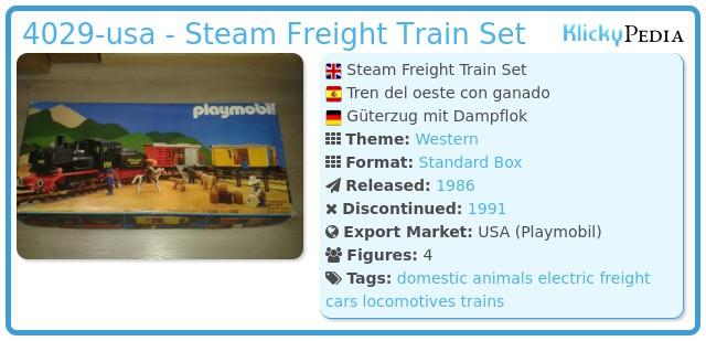 Playmobil 4029-usa - Steam Freight Train Set