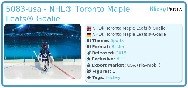Playmobil 5083-usa - NHL® Toronto Maple Leafs® Goalie