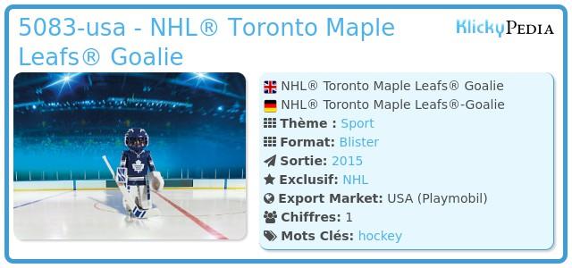 Playmobil 5083-usa - NHL® Toronto Maple Leafs® Goalie