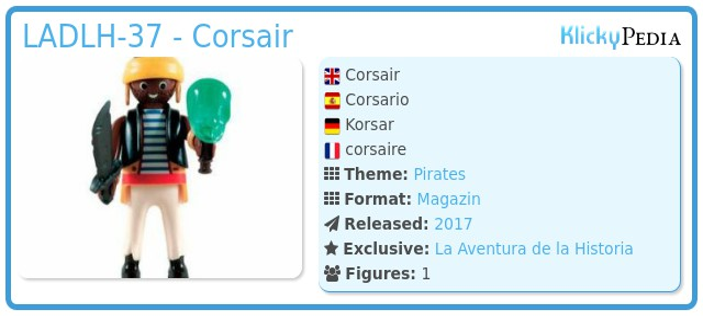 Playmobil LADLH-37 - Corsair