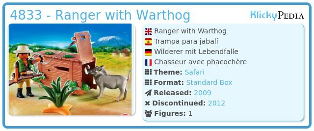 Playmobil 4833 - Ranger with Warthog