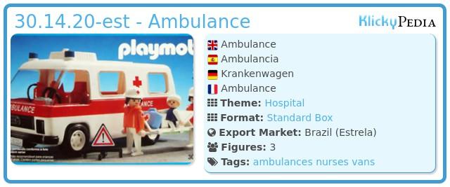 Playmobil 30.14.20-est - Ambulance