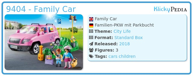 Playmobil 9404 - Family Car