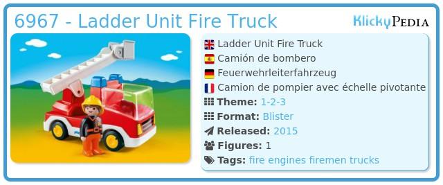 Playmobil 6967 - Ladder Unit Fire Truck