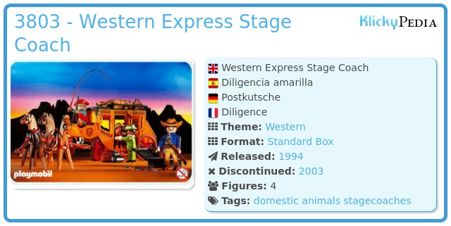 Playmobil 3803 - Western Express Stage Coach