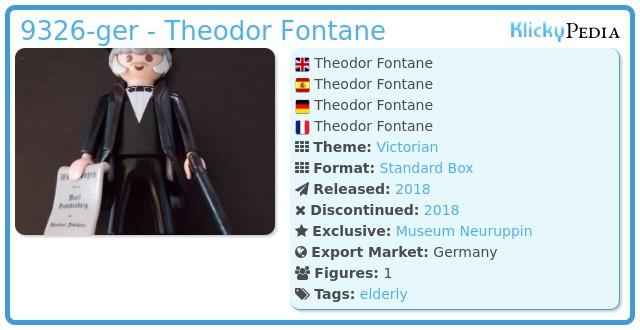 Playmobil 9326-ger - Theodor Fontane