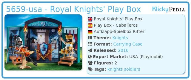 Playmobil 5659-usa - Play Box - Knights