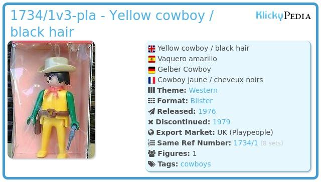 Playmobil 1734/1v3-pla - Yellow cowboy