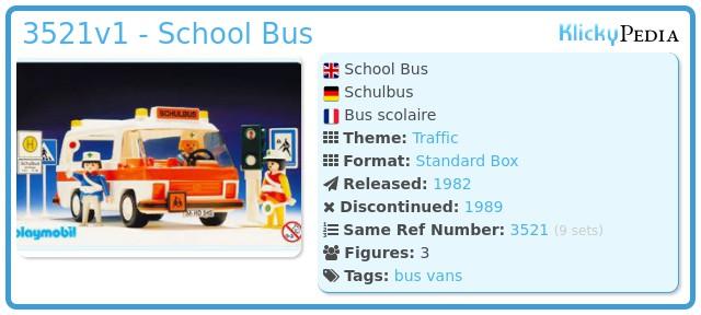 Playmobil 3521v1 - School Bus