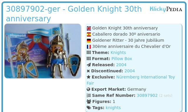 Playmobil 30897902-ger - Golden Knight 30th anniversary