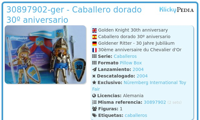 Playmobil 30897902-ger - Caballero dorado 30º aniversario