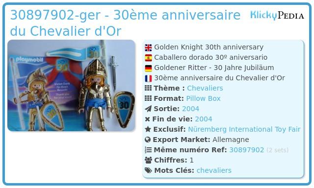 Playmobil 30897902-ger - 30ème anniversaire du Chevalier d'Or