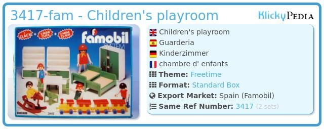 Playmobil 3417-fam - Guarderia