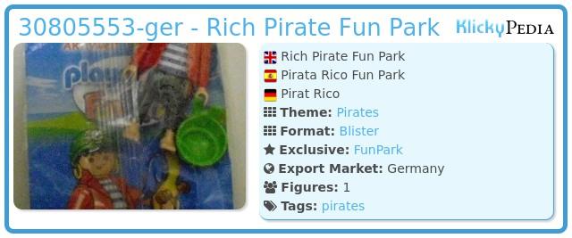 Playmobil 30805553-ger - Rich Pirate Fun Park
