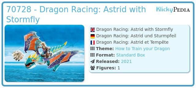 Playmobil 70728 - Dragon Racing: Astrid with Stormfly