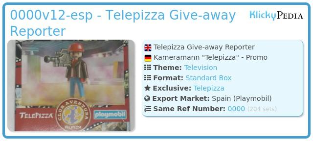 Playmobil 0000v12-esp - Telepizza Give-away Reporter
