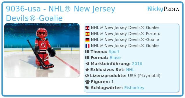 Playmobil 9036-usa - NHL® New Jersey Devils® Goalie