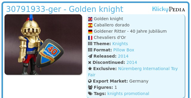 Playmobil 30791933-ger - Golden knight