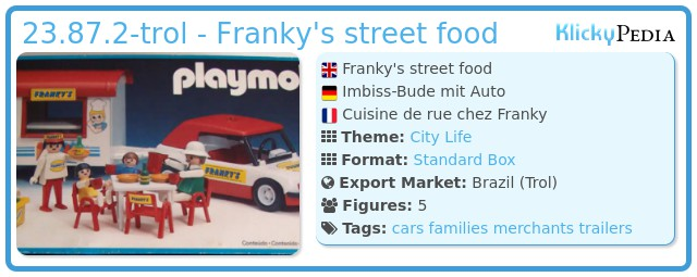 Playmobil 23.87.2-trol - Franky's street food
