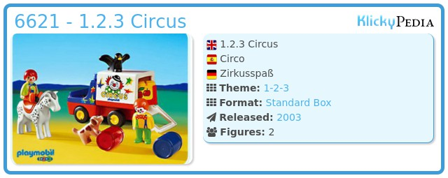 Playmobil 6621 - 1.2.3 Circus