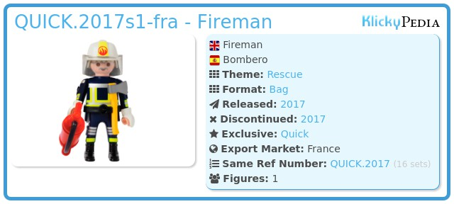 Playmobil QUICK.2017s1-fra - Fireman