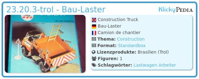 Playmobil 23.20.3-trol - Construction Truck