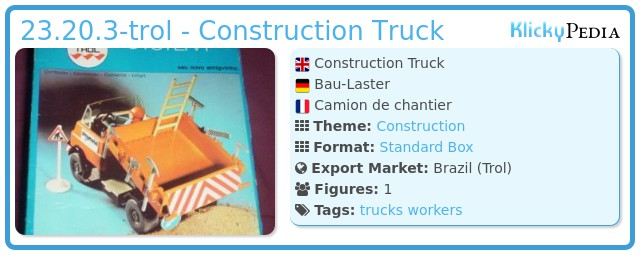 Playmobil 23.20.3-trol - Construction Truck
