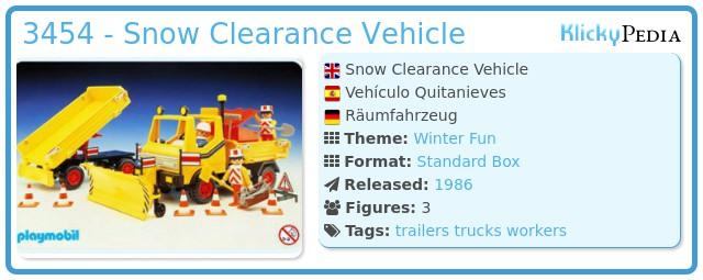 Playmobil 3454 - Snow Clearance Vehicle