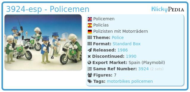 Playmobil 3924-esp - Policemen