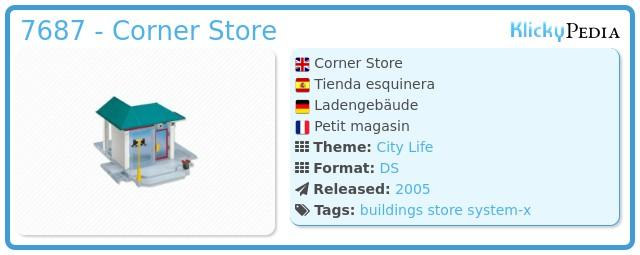 Playmobil 7687 - Corner Store