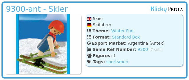 Playmobil 9300-ant - Skier