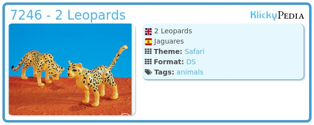 Playmobil 7246 - 2 Leopards