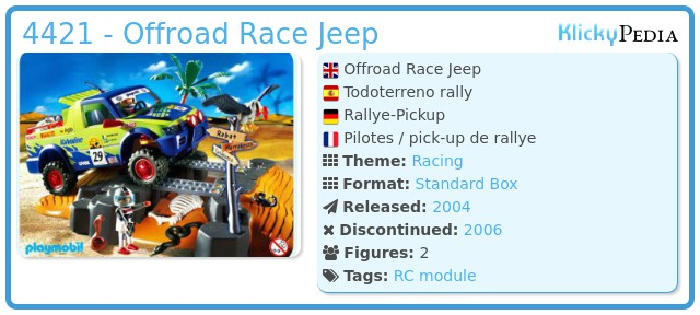 Playmobil 4421 - Offroad Race Jeep